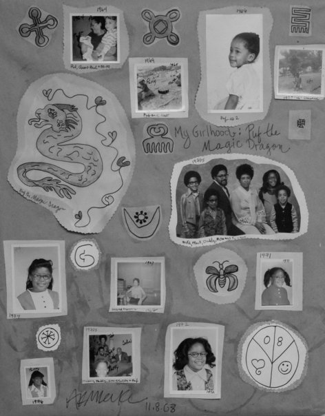 My Girlhood Collage by Ananda Leeke (2008)
