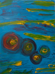 """""""Kreative Grooviness"""" painting by Ananda Leeke"""