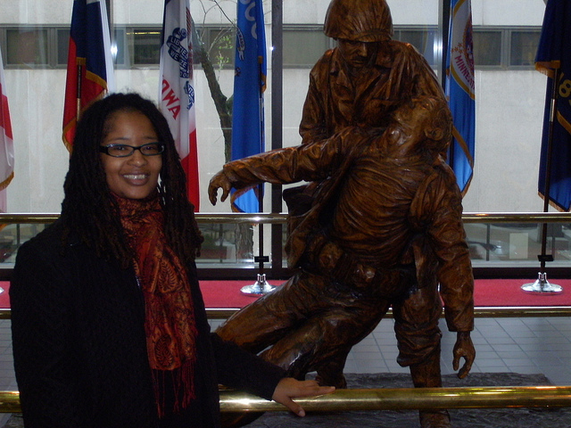 Working as an artist-in-residence at Walter Reed National Military Medical Center