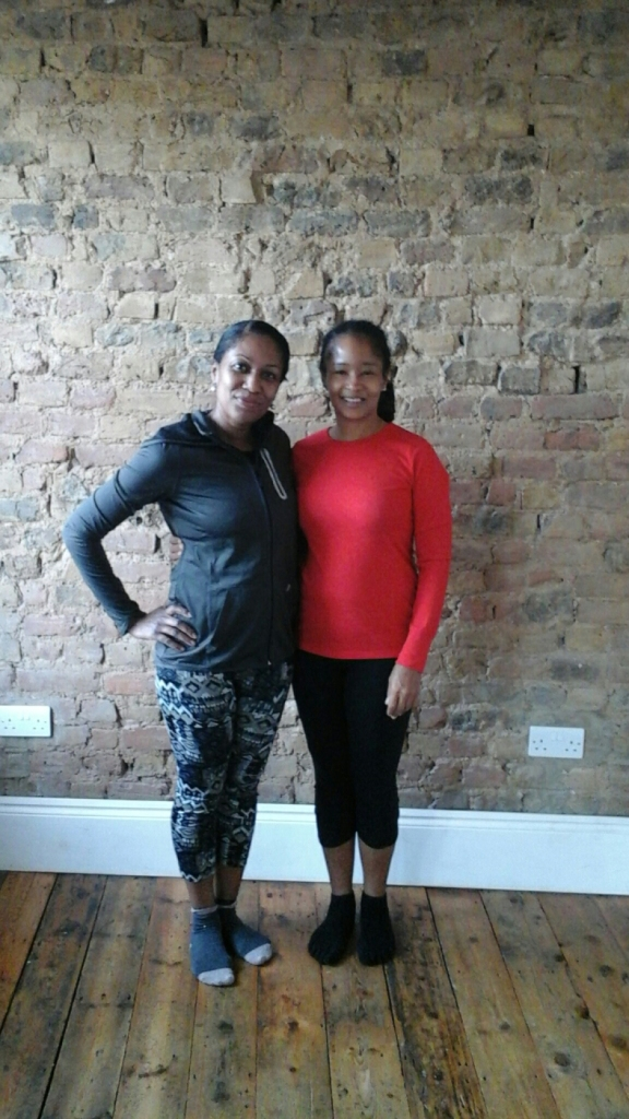 Me and London-based yoga teacher Rosemarie St. Louis after her vinyasa class in East London in 2014