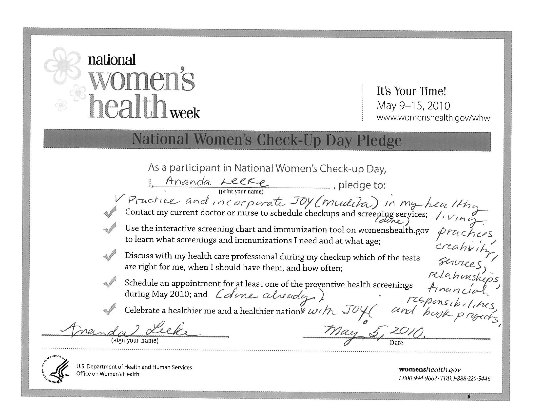 Ananda kicks off National Women's Health Week early with her