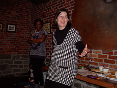 Susan Niebur speaking @ Be Blogalicious, The Movie event, Jan. 2011