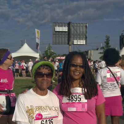 Ms. Delores, a 79 year old runner and Ananda at Komen Race for the Global Cure 5K on June 2 in DC
