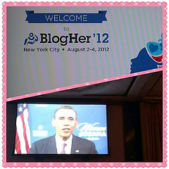 President Obama addressing BlogHer 12 conference on 8.2.12
