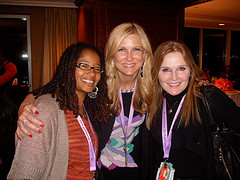 Ananda, Barbara Jones and Danica Kombol at Blogalicious 2011