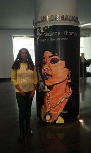 Ananda celebrating creativity at the Mickalene Thomas exhibition at the Brooklyn Museum