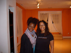 Faith Hunter and Ananda at Embrace Yoga Studio in DC