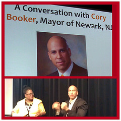 Kathryn Finney and Mayor Cory Booker at FOCUS100