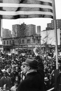Photo Credit: Gordan Parks - Malcolm X in Chicago, IL in 1963