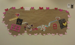 Valentine's Day wall collage