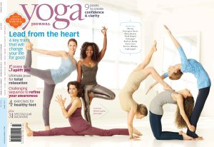 Faith Hunter on 2011 cover of Yoga Journal Magazine