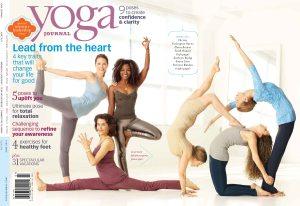 Faith Hunter on 2011 cover of Yoga Journal Magazine