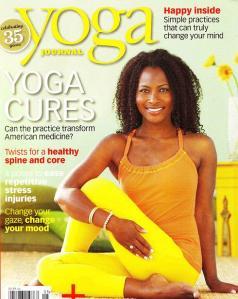 Faith Hunter on 2010 cover of Yoga Journal Magazine