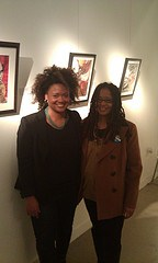 Kesha Bruce and Ananda Leeke at Morton Fine Art in DC