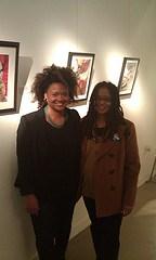 Kesha Bruce and Ananda Leeke at Morton Fine Art in DC