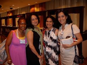 BlogHer 2010 - Ananda, Julie Diaz-Asper, Ana Roca Castro, and Sylvia Aguilera