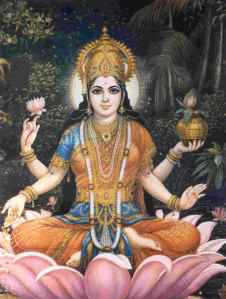 Hindu Goddess Lakshimi, one of Ananda's favorite yoga goddesses
