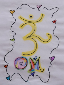 "Photo Credit: ""OM"" drawing by Ananda Leeke"
