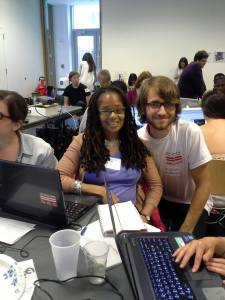 My RailsGirlsDC coach Greg Kenenitz