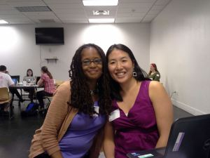 My RailsGirls DC digital sister Emily and I