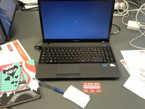 My new Samsung laptop all ready for Rails Girls DC June workshop