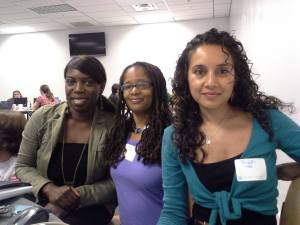 My RailsGirls DC digital sisters Geraldine, Ananda, and Niyati