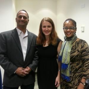 Shashi Bellamkonda, Andrea Weckerle, and Ananda Leeke at Weckerle's March 2013 book signing - Photo Credit: Shashi Bellamkonda