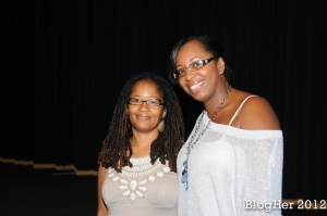 Stacey Ferguson a/k/a Justice Fergie and Ananda at BlogHer 12 Brunchalicious Event - Photo Credit ' BlogHer.com