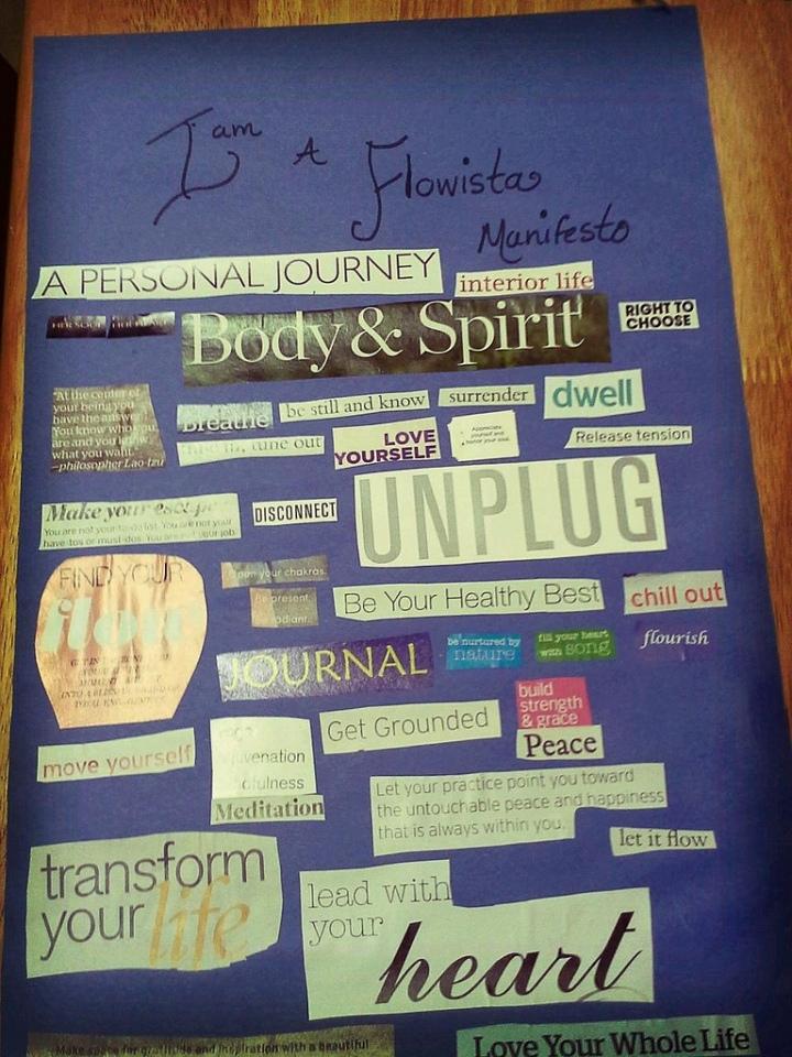 Flowista Manifesto Collage by Ananda Leeke