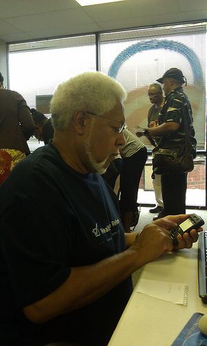 John Leeke volunteering at Obama Phone Bank in PG County, MD, 2012