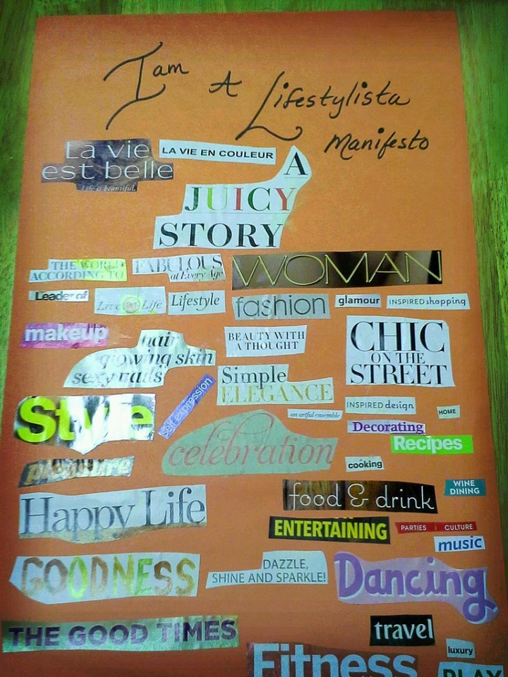 Lifestylista Manifesto Collage by Ananda Leeke