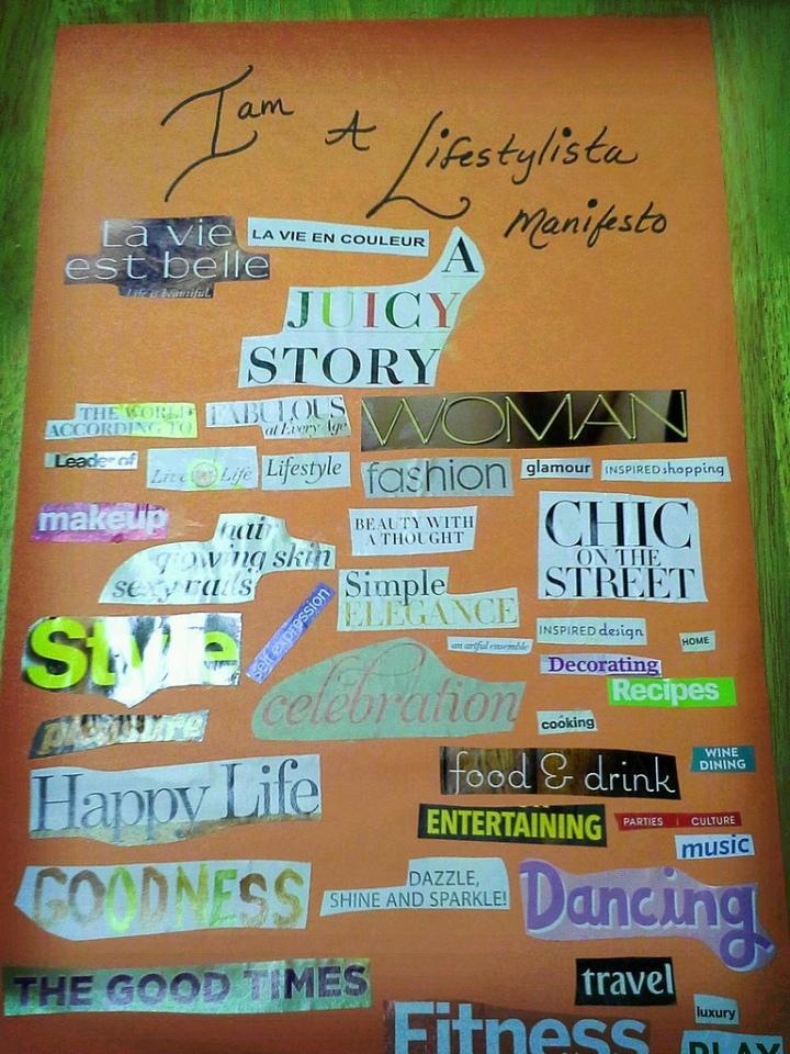Lifestylista Manifesto Collage by Ananda Leeke