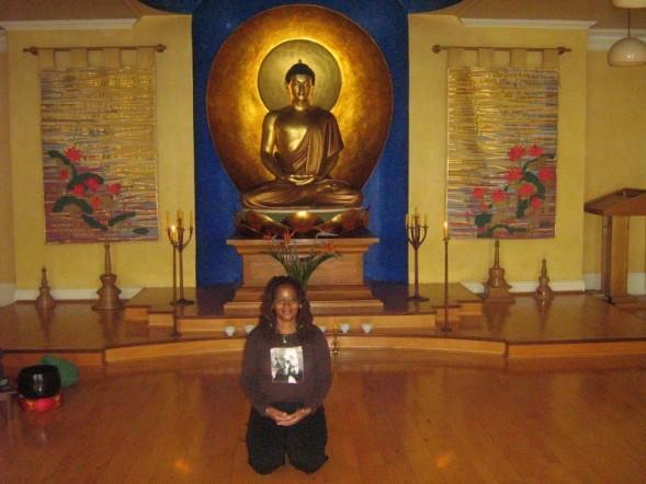 Ananda at the London Buddhist Meditation Centre, 2007