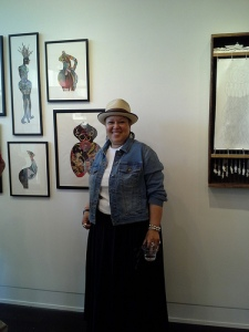 Tina Lassiter at the Joan Hisaoka Healing Arts Gallery