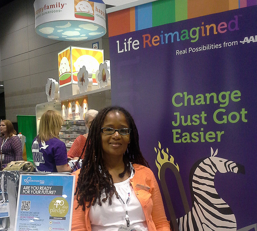 Ananda at AARP BlogHer booth