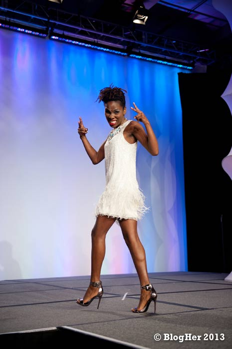 Luvvie Ajayi, co-hostess of the BlogHer fashion show (photo from Blogher.com)