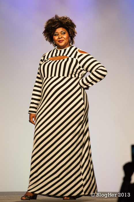 Afrobella, co-hostess of the BlogHer fashion show (photo from Blogher.com)