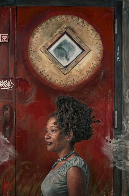 Photo Credit: Tim Okamura's painting, Sun Rise on U Street, 2013