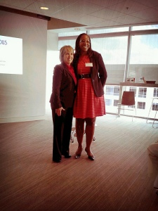 Blogalcious co-founder/chief curator Stacey Ferguson and Congresswoman Michelle Grisham