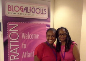 Blogalicious Creative Coaching participant Cassandre and Ananda Leeke