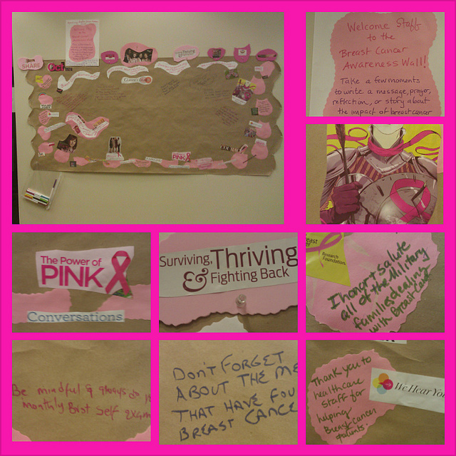 Interactive Breast Cancer Awareness Wall Collage at Walter Reed, 2012