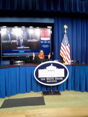Ananda at the #SOTUSocial held at the White House