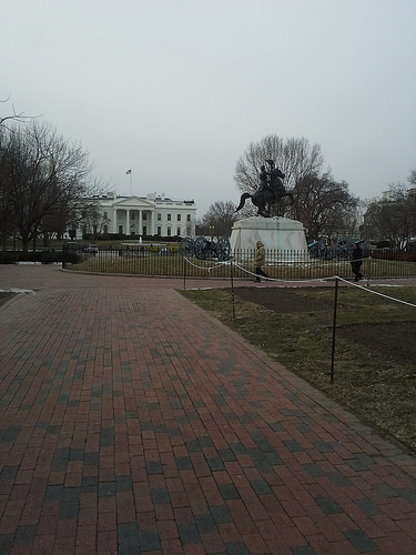 View of White House from Lafayette Park