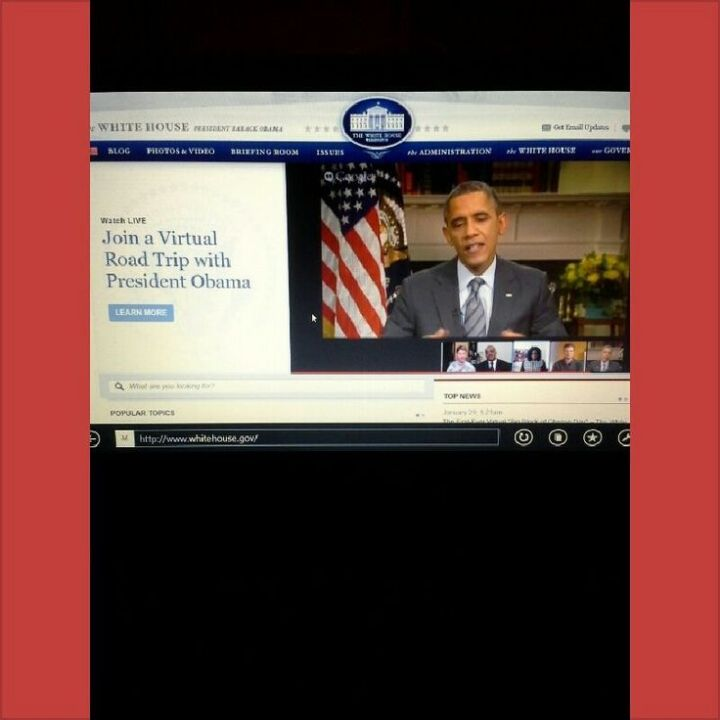 President Obama's Virtual Road Trip