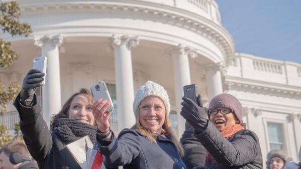 Me and my new #WHSocial BFFs on the White House South Lawn --Photo Credit: Dave McCulloch