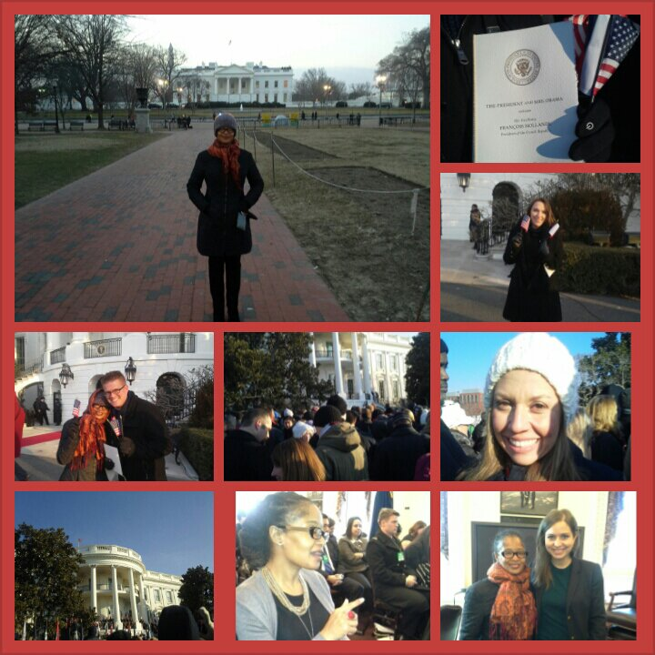 French Arrival Ceremony photo collage