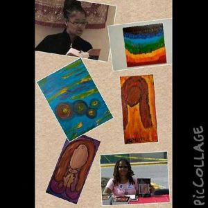 Ananda's books and paintings