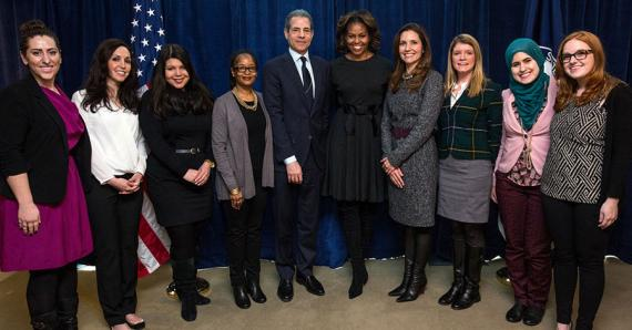 FLOTUS Michelle Obama and the #IWOC Social Media Leaders - Photo Credit: State.gov