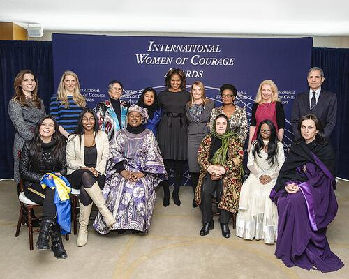 International Women of Courage 2014 Awardees and FLOTUS Michelle Obama -- Photo Credit: State.gov