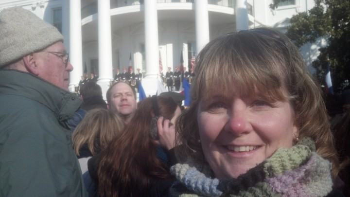 Photo Credit: Sherry Grandinetti at the White House French Arrival Ceremony, February 2014